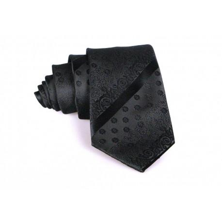 Krawat Czarny Stylowy M5